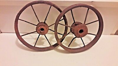 Antique Bicycle Rims. Cyclist man cave decoration.Early 1900