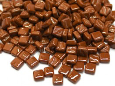 Small Coffee Brown 8mm Glass Mosaic Tiles for Art & Craft Supplies
