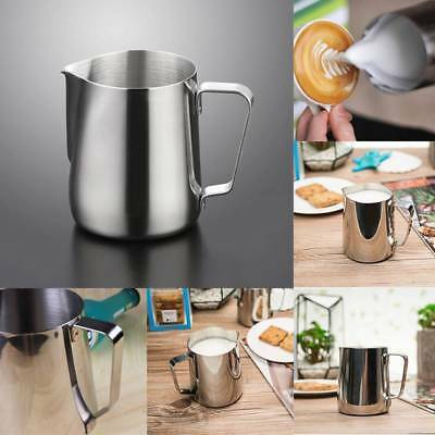 Stainless Steel Coffee Frothing Milk Latte Jug Coffee Foam Cup Pitcher 7 Size QR