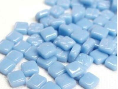 Small Turquoise 8mm Glass Mosaic Tiles for Art & Craft Supplies
