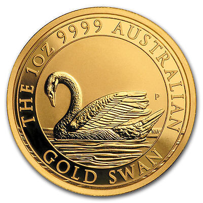 2017 1 oz Gold Swan bullion coin, Unopened from Perth Mint