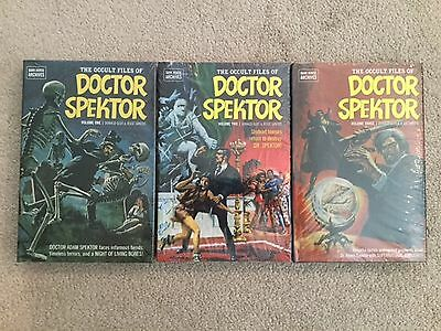 The Occult Files of Doctor Spektor 1, 2 & 3 Hardcover Books - Dark Horse -Sealed