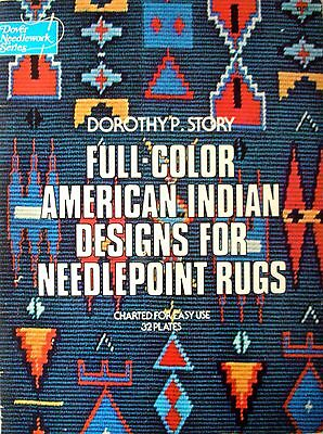 Dover Needlework Series FULL-COLOUR AMERICAN INDIAN DESIGNS 4 NEEDLEPOINT  RUGS