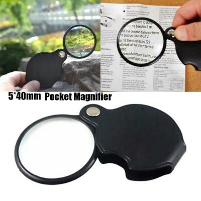 Outdoor Camp Mini Pocket 5X Eye Glass Loupe Lens Folding Magnifier Magnifying