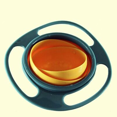 Universal Baby 360 Degree Rotate Spill-Proof Gyro Bowl Dishes + Lid #IN9