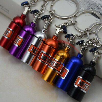 1pcs Auto Part Alloy NOS Keychain Key Chains Ring Keyring Keyfob Car Fans' Gift