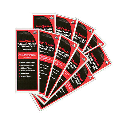 Pkg of 10 Thermal Printer Cleaning Cards