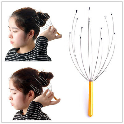 Head Massager Scalp Neck Handy Massage Headache Stress Relief Tension Relaxation