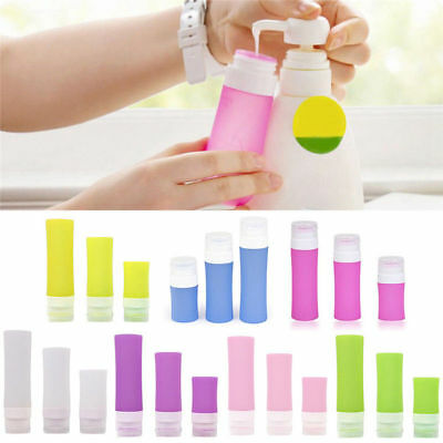 Silicone Travel Shower Lotion Shampoo Bath Container Press Bottle Lovely Style