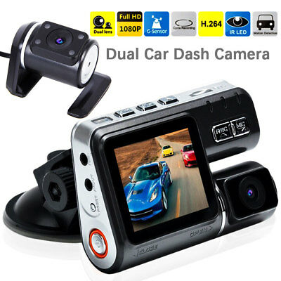 i1000 Dual Car Camera True HD 1080P G-sensor Recorder Crash Cam Dash DVR Video