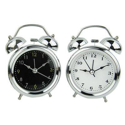 Vintage Retro Double Bell Loud Mechanical Keywound Alarm Clock Home Decor #IN9