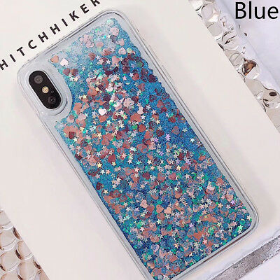 For Huawei Phone Case Dynamic Glitter Quicksand Clear Hard Sequins Cover Bling