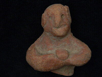 Ancient Indus Valley C.800 BC Teracotta Idol Bust ###TR5942##