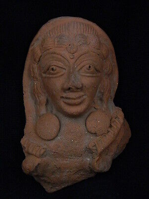 Ancient Bactrian C.300 BC Teracotta Lady Bust
