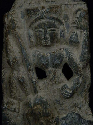 Ancient Hindu Shahi C.600 AD Stone Goddess NO RESERVE AUCTION  ##G4825##