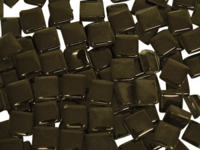Black Crystal Glass Mosaic Tiles 1cm for Art Craft Supplies