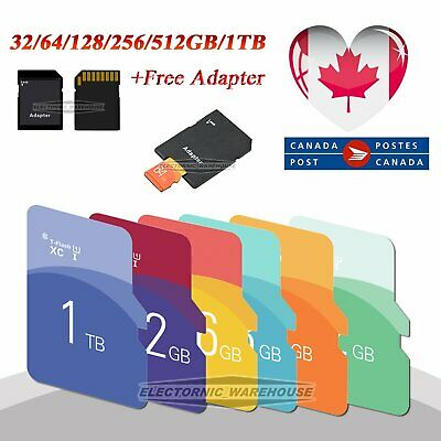 32/64/128/256/512GB/1TB Micro SD Memory Flash Card TF Adapter SDHC SDXC CA