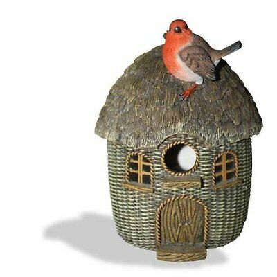 Bird Nest Box Wicker Robin Frost Resistant Hand Finished Easy Clean Access Gift
