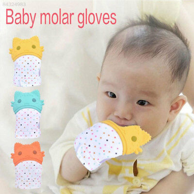 695A Convenient Baby Teething Mittens Molar Teether Gloves Baby Gifts Unisex
