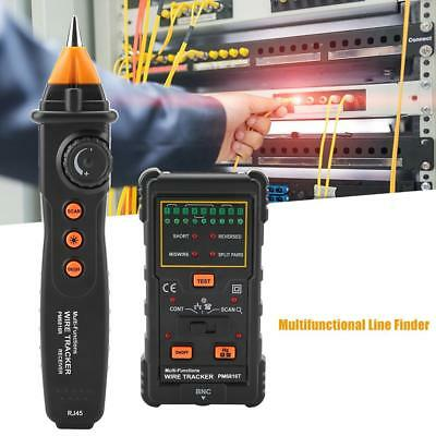 PEAKMETER Multifunction Cable Tester Line Finder RJ45 RJ11 Handheld Wire Tracker