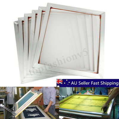 6Pcs 110T Screen Printing Aluminium Frame Stretched Silk Print Polyester Mesh