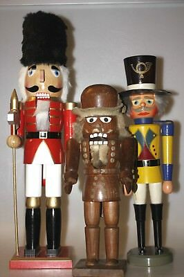 Vintage toy and nutcracker 35cm wooden handmade from Erzgebirge old collectable