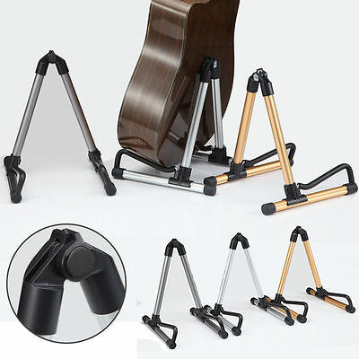 3 Colors Folding Electric Acoustic Bass Guitar Stand A Frame Floor Rack Holder