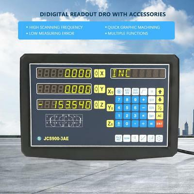 JCS900-3AE 2/3 Axis Digital Readout Display For Milling Lathe Machine 110-240V