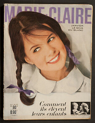 'marie-Claire' French Vintage Magazine New Year Issue January 1960