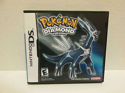 Pokemon Diamond Version Nintendo DS Replacement Case & Artwork - NO GAME