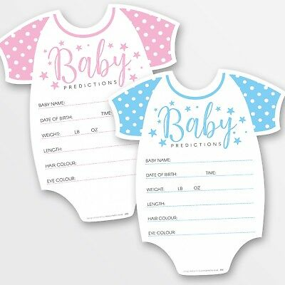10 x Baby Shower Games Prediction & Advice Cards ~ Boy / Girl / Unisex (G48)