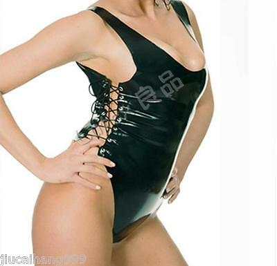 Bright 100%latex Rubber Gummi 0.45mm Swimwear Top Mini Skirt Catsuit Suit Fashion Black Mixed Intimate Items
