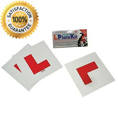 Oxford Motorcycle Scooter L-Plate Kit Includes 2 Rigid & 1 Self Adhesive L Plate