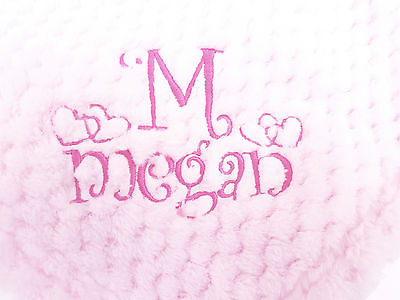 NEW WAFFLE super soft feel personalised embroidered blanket 4 colours