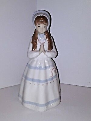 """Dalia Tall Porcelain Figurine Young Girl In Prayer 11"""" Made In Mexico-Beautiful!"""