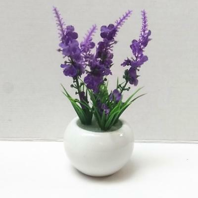 Artificial Silk Flowers Bonsai Arrangements with Ceramics Pot Decors Purple