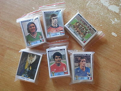 PANINI WC ARGENTINA  78 take 6 stickers cut out - from almost all from list !!