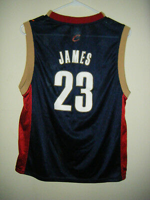 NBA Cleveland Cavs Cavaliers LeBron James Youth Size Large (14 - 16) Jersey
