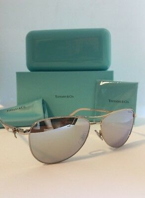 dbcc80b45d8 NEW TIFFANY   Co. TF3044 6021 64 PALE GOLD  BROWN LENS SUNGLASSES ...