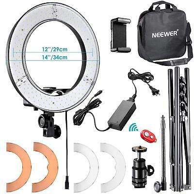 """Neewer RL-12 LED Ring Light 14"""" outer/12 on Center with Light Stand, Soft Tub..."""