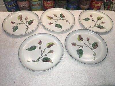 (5) Vintage Denby Spring Bread & Butter  Plates By Albert College 6.75""