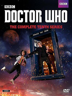 DOCTOR WHO:THE COMPLETE TENTH SERIES, SEASON 10, (DVD, 2017, 5-Disc Set), NEW!!