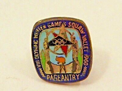 Vintage VIII Olympic Winter Games Squaw Valley 1960 Pageantry Pin Walt Disney
