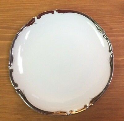 "Harmony House STARLIGHT Dessert Plate 6 3/4"", 3656 White & Platinum Fine China"
