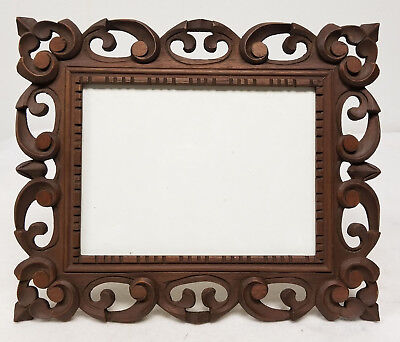 Antique German Black FOrest Italian Florentine Picture Frame Carved Wood