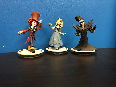 Disney Infinity Alice in Wonderland, Alice, Mad Hatter, Timekeeper