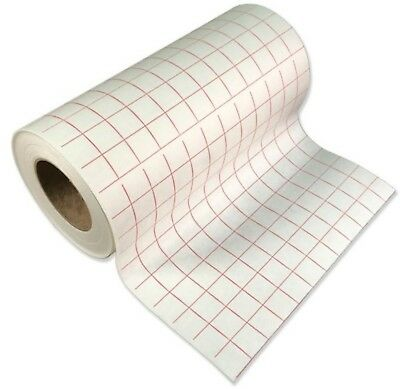 """12"""" Adhesive Transfer Tape Roll or Sheets - Red Grid - Hobby Mask Paper Backing"""