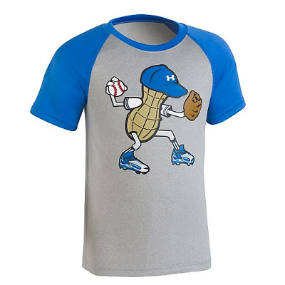 New Under Armour Boy's Mr. Peanut Baseball Print t-shirt