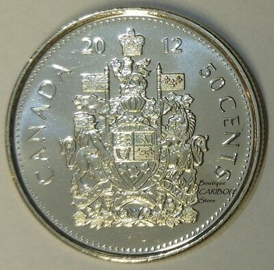 2012 Canada 50 Cents Coat of Arms BU