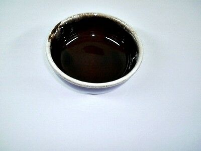 "Vintage McCoy 5"" All purpose (cereal) bowl Brown Drip pottery"